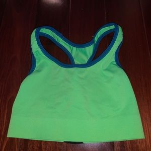 Champion Women's Green & Blue Sports Bra